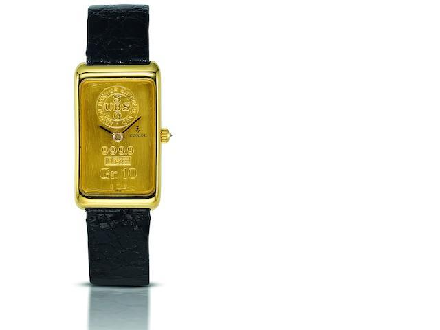 Corum. An 18ct gold manual wind wristwatch Ref:1440054, Case No.332241, Movement No.167881, Circa 1979