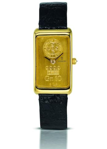 Corum. An 18ct gold manual wind wristwatch Ref:1440054, Case No.332241, Movement No.167881, Circa 1979