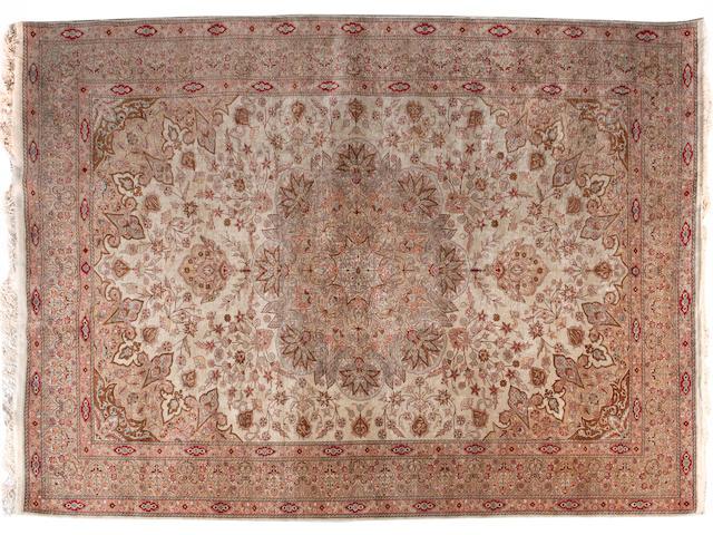 A silk Keyseri carpet West Anatolia 318cm x 205cm, (56 knots per square cm)
