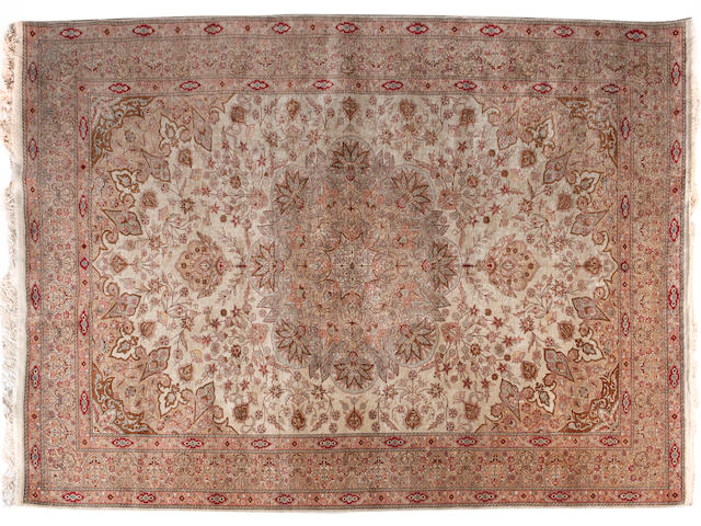 A silk Keyseri carpet West Anatolia 318cm x 205cm, (56 knots per square cm)