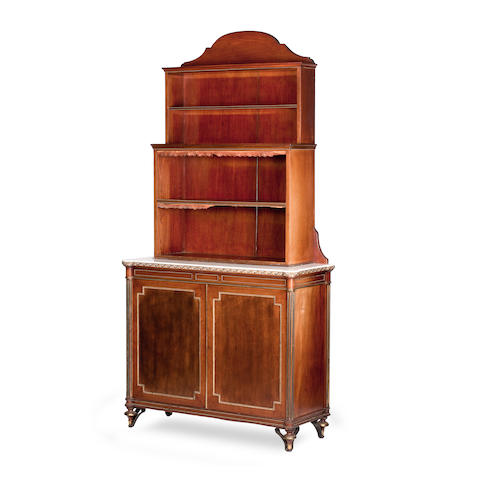 A pair of Regency mahogany and gilt-metal mounted bookcases