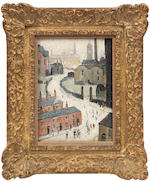 Laurence Stephen Lowry R.A. (British, 1887-1976) Industrial Scene 24.8 x 18.1 cm. (9 3/4 x 7 1/8 in.)