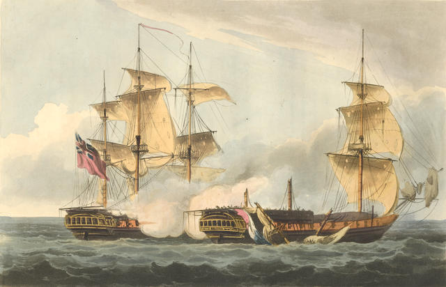 JENKINS (JOHN) The Naval Achievements of Great Britain, from the Year 1793 to 1817, J. Jenkins, by L. Harrison, [1816-17]