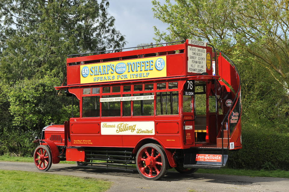 1922 Tilling-Stevens TS3A Petrol-Electric Open top Double Deck Bus   Chassis no. TS3A 2559 Engine no. 2174