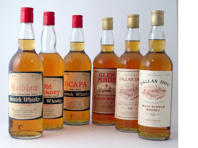 Balblair-10 year oldOld Pulteney-8 year oldScapa-8 year oldGlen Mhor-8 year oldDallas Dhu-10 year oldDallas Dhu-12 year old