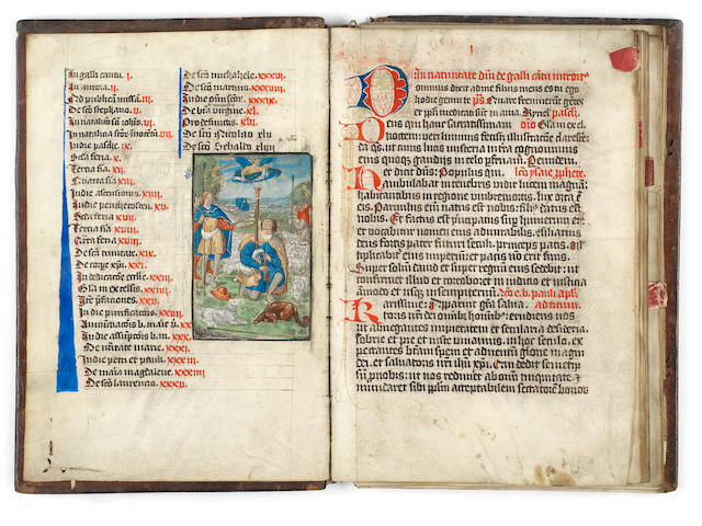 ILLUMINATED MANUSCRIPT [Lectionary], illuminated manuscript on vellum, Germany (probably Nuremberg), 1478