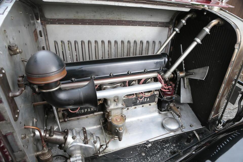 1927 Hispano-Suiza 27hp T49 Weymann Saloon  Chassis no. 7874 Engine no. 7874