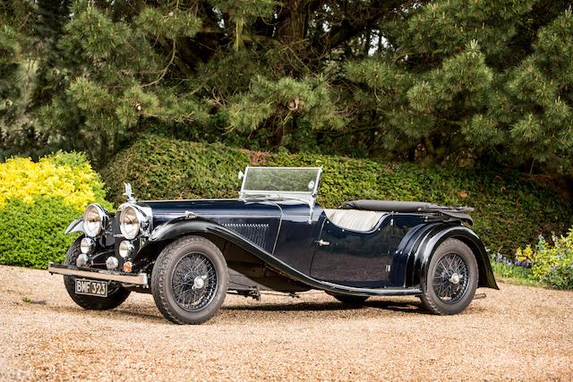 1934 Alvis Speed Twenty 'SB' Tourer  Chassis no. 11286 Engine no. 11735
