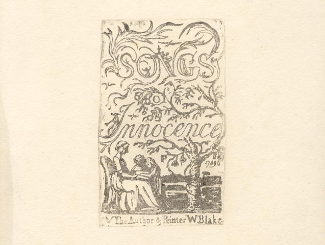 BLAKE (WILLIAM) Songs of Innocence and Of Experience, Shewing the Two Contrary States of the Human Soul, The Author & Printer W Blake, 1789-1794 [but Frederick Tatham, c.1832]