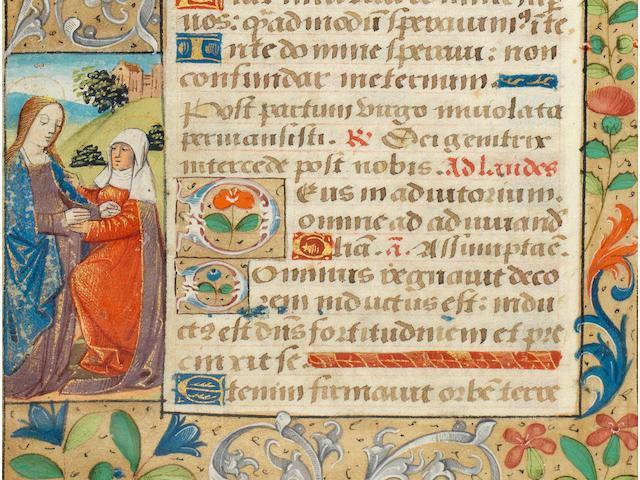 ILLUMINATED MANUSCRIPT - BOOK OF HOURS Book of Hours, Use of Rouen, mauscript on vellum, [Rouen, c.1500]