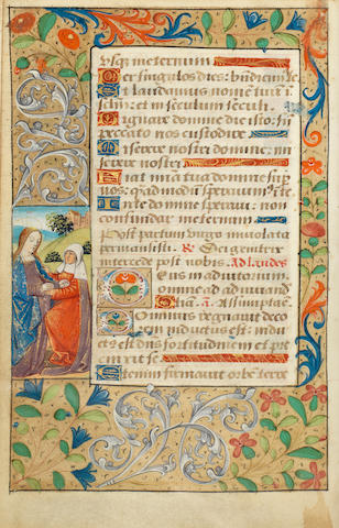 ILLUMINATED MANUSCRIPT - BOOK OF HOURS Book of Hours, Use of Rouen, mauscript on vellum, [Rouen, c.1500]