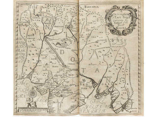 VALLE (PIETRO DELLA) The Travels of Sig. Pietro della Valle, a noble roman into East India and Arabia Deserta ... Whereunto is added A Relation of Sir Thomas Roe's Voyage into the East-Indies, J. Macock, for John Martin and James Allestry, 1665