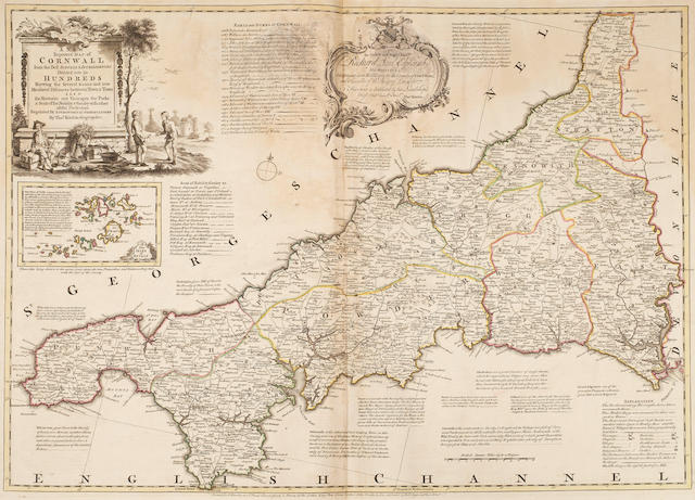BOWEN (EMANUEL) and THOMAS KITCHIN [The Large English Atlas: or, a New Set of Maps of all the Countries in England and Wales], T. Bowles, John Bowles, John Tinney, and Robert Sayer, [c.1760]