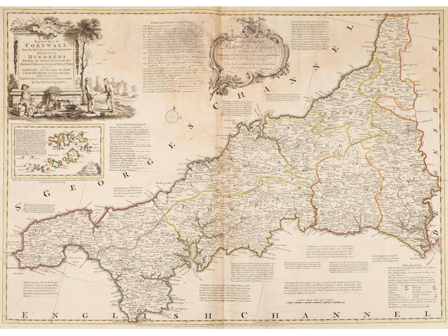 BOWEN (EMANUEL) and THOMAS KITCHIN [The Large English Atlas: or, a New Set of Maps of all the Counties in England and Wales], T. Bowles, John Bowles, John Tinney, and Robert Sayer, [c.1760]