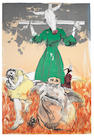 Paula Rego (British, born 1935) Scarecrow Lithograph printed in colours, 2006, on Somerset wove, signed and inscribed 'Curwen Archive 1/2' in pencil, a proof from the Curwen Archive aside from the edition of 35, printed at the Curwen Studio, Chilford, 690 x 1001mm (27 1/8 x 39 1/2in)((SH)(unframed)