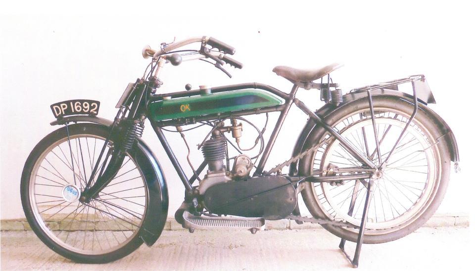 1915 OK Junior 2¾hp Lightweight Frame no. 1830 Engine no. 1999