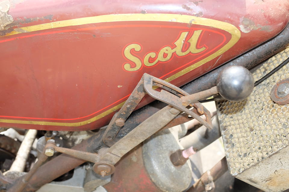 1929 Scott Flying Squirrel Tourer Project Frame no. 2797M Engine no. FZ3455A