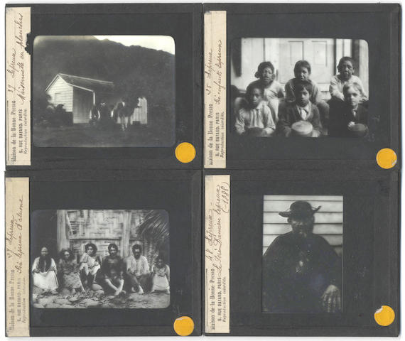 HAWAII - LEPER COLONY Collection of 42 monochrome glass positives, [c.1900]