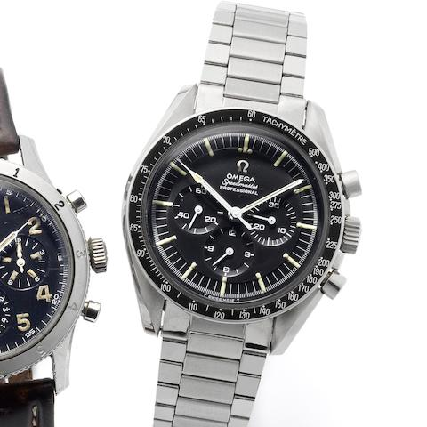 Omega. A fine stainless steel manual wind chronograph bracelet watch  Pre-Moon Landing Speedmaster, Ref:145012-97, Movement No.25007918, Made in 1967