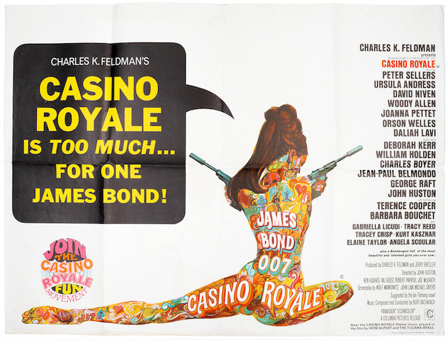 James Bond: Casino Royale, Columbia Pictures, 1967,