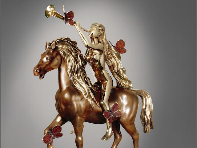 Salvador Dali (Spanish, 1904-1989) Lady Godiva avec papillons 167cm (65 3/4 in) high