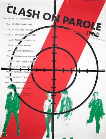 The Clash: A rare UK concert poster 'Clash On Parole', June-July, 1978,