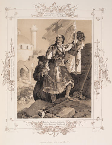 HESS (PETER VON) Album of Greek Heroism, or the Deliverance of Greece, Munich, Heinrich Kohler, [c.1835]