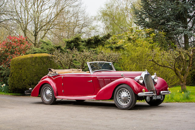 1939 Darracq T120 Major 3-litre Three-position Drophead Coupe  Chassis no. 92427 Engine no. 66374