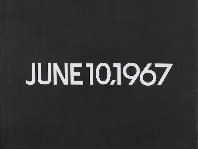 On Kawara (Japanese, 1933) June 10, 1967 (from Today series, No.101) 1967