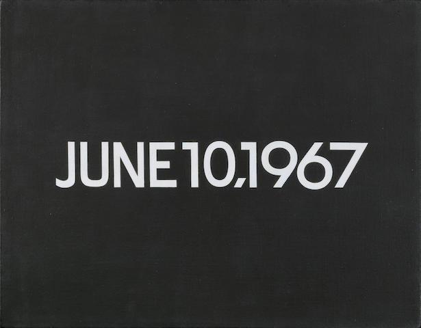 On Kawara (Japanese, 1933) June 10, 1967 (from Today series, No.101) 1967