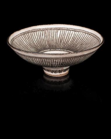 Dame Lucie Rie (Austrian, 1902-1995) A 'Knitted' Bowl, circa 1975