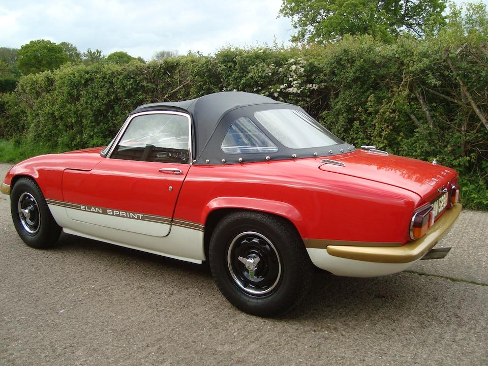1970 Lotus Elan S4 'Sprint' Drophead Coupé  Chassis no. 7105120155G (see text) Engine no. L22068