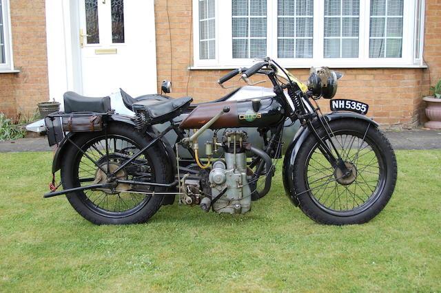 1924 Cedos 348cc Motorcycle Combination Frame no. 1754 Engine no. 1754