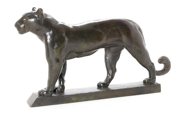 Charles Delhommeau (French, born 1883) An Art Deco Model of a Panther, circa 1925