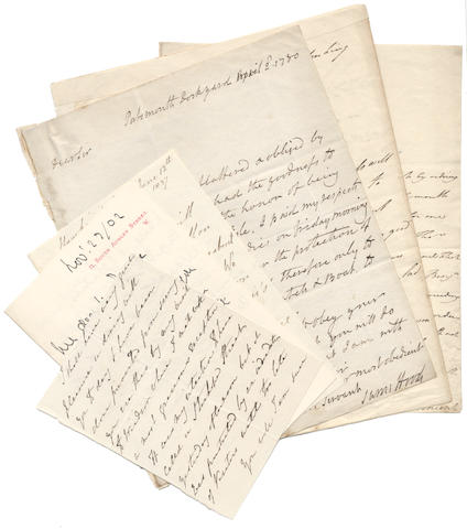 NAVAL Group of autograph letters to William Eden, Lord Auckland,