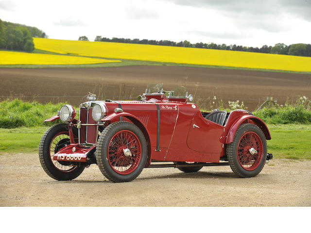 Ex-works prepared, Brooklands, Crystal Palace & Goodwood campaigned,1936 MG Midget PB Supercharged Sports  Chassis no. PB528