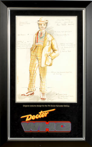 Doctor Who: An original costume design for Sylvester McCoy as the 7th Doctor,