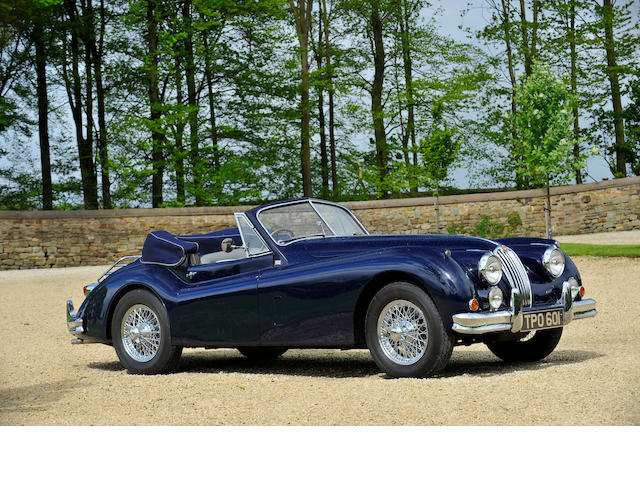 One of only 479 examples,1955 Jaguar XK140 Drophead Coupé  Chassis no. 807210 Engine no. G4297-8