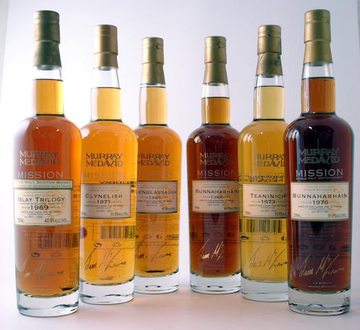 Islay Trilogy-36 year old-1969Clynelish-36 year old-1971Glenglassaugh-40 year old-1965Bunnahabhain-37 year old-1966Teaninich-33 year old-1973Bunnahabhain-31 year old-1976