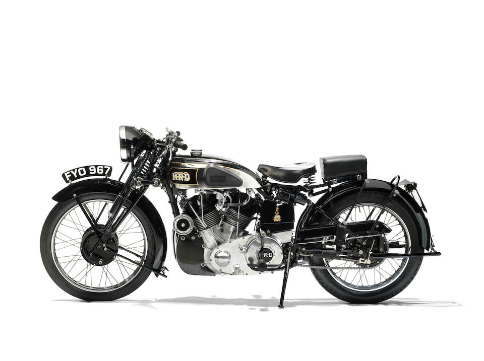 Single family ownership since 1959; seven-year restoration to concours standard,1939 Vincent-HRD 998cc Series-A Rapide Frame no. DV 1773 Engine no. V1076