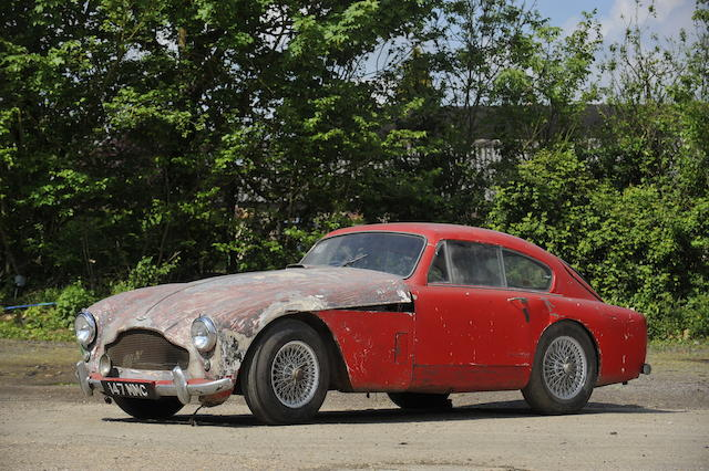 The first disc-braked production chassis,1957 Aston Martin DB MkIII Sports Saloon Project  Chassis no. AM300/3B/1401 Engine no. DBD/1099