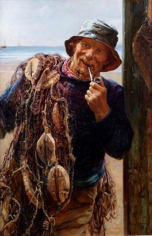Frederick Morgan, ROI (British, 1847-1927) The fisherman