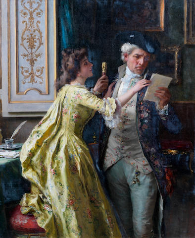Federico Andreotti (Italian, 1847-1930) The intercepted letter
