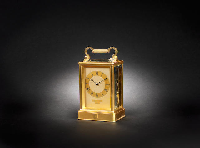 A third quarter of the 19th century gilt brass carriage clock James McCabe, Royal Exchange, London, No.2886