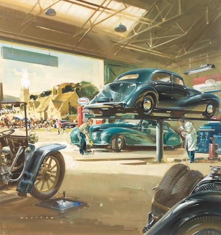 Frank Wootton (British, 1914-1998), 'Esso Garage',