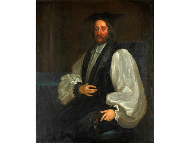 Circle of Sir Peter Lely (Soest 1618-1680 London) Portrait of James Usher, Archbishop of Armagh, three-quarter-length, seated