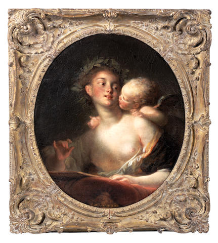 Jean Honoré Fragonard (Grasse 1732-1806 Paris) Sappho inspired by Cupid