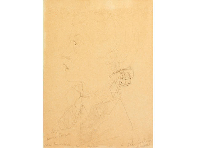 Jean Cocteau (French, 1889-1963) 'A lady/Diana Cooper'