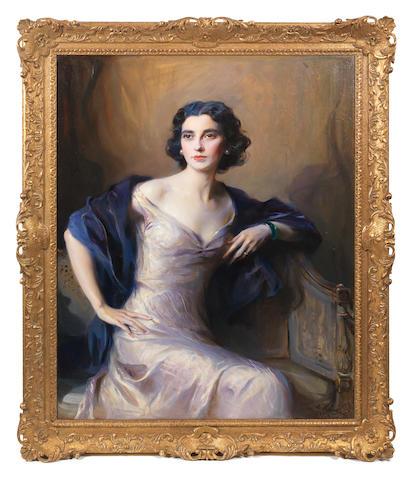 Philip Alexius de László (British, 1869-1937) Portrait of Audrey Winifred Radcliffe Battine, wife of Oswald James Battine