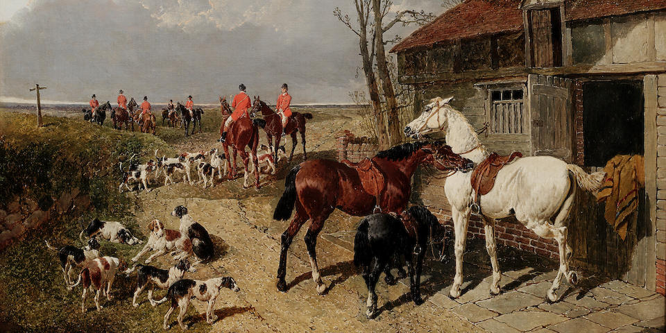 John Frederick Herring, Jnr. (British, 1815-1907) The Meet